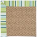 Capel Rugs Creative Concepts Raffia - Capri Stripe Breeze (430) Octagon 12