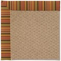 Capel Rugs Creative Concepts Raffia - Tuscan Stripe Adobe (825) Rectangle 9