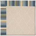 Capel Rugs Creative Concepts White Wicker - Kalani Ocean (417) Octagon 4