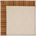 Capel Rugs Creative Concepts White Wicker - Tuscan Stripe Adobe (825) Octagon 4