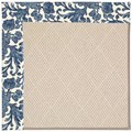 Capel Rugs Creative Concepts White Wicker - Batik Indigo Blue (415) Octagon 6