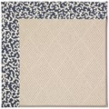 Capel Rugs Creative Concepts White Wicker - Coral Cascade Navy (450) Octagon 6
