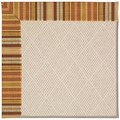 Capel Rugs Creative Concepts White Wicker - Vera Cruz Samba (735) Octagon 6