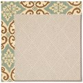 Capel Rugs Creative Concepts White Wicker - Shoreham Spray (410) Octagon 8