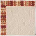 Capel Rugs Creative Concepts White Wicker - Java Journey Henna (580) Octagon 8