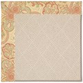 Capel Rugs Creative Concepts White Wicker - Paddock Shawl Persimmon (810) Octagon 8