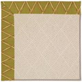 Capel Rugs Creative Concepts White Wicker - Bamboo Tea Leaf (236) Octagon 10