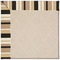 Capel Rugs Creative Concepts White Wicker - Granite Stripe (335) Octagon 10