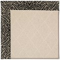 Capel Rugs Creative Concepts White Wicker - Wild Thing Onyx (396) Octagon 10