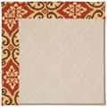 Capel Rugs Creative Concepts White Wicker - Shoreham Brick (800) Octagon 10