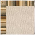 Capel Rugs Creative Concepts White Wicker - Kalani Coal (330) Octagon 12