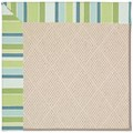 Capel Rugs Creative Concepts White Wicker - Capri Stripe Breeze (430) Octagon 12