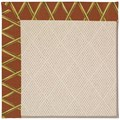 Capel Rugs Creative Concepts White Wicker - Bamboo Cinnamon (856) Octagon 12