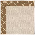 Capel Rugs Creative Concepts White Wicker - Arden Chocolate (746) Rectangle 3