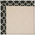 Capel Rugs Creative Concepts White Wicker - Arden Black (346) Rectangle 4