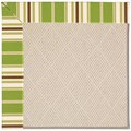 Capel Rugs Creative Concepts White Wicker - Tux Stripe Green (214) Rectangle 6
