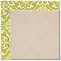 Capel Rugs Creative Concepts White Wicker - Shoreham Kiwi (220) Rectangle 8