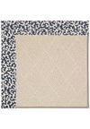 Capel Rugs Creative Concepts White Wicker - Coral Cascade Navy (450) Rectangle 12' x 15' Area Rug