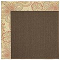 Capel Rugs Creative Concepts Java Sisal - Paddock Shawl Persimmon (810) Octagon 8