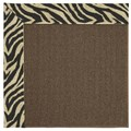 Capel Rugs Creative Concepts Java Sisal - Wild Thing Onyx (396) Octagon 10