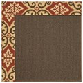 Capel Rugs Creative Concepts Java Sisal - Shoreham Brick (800) Octagon 10
