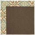 Capel Rugs Creative Concepts Java Sisal - Shoreham Spray (410) Rectangle 6