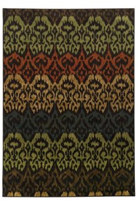 Shaw Living Inspired Design Antique Manor (Black) Rectangle 2'2