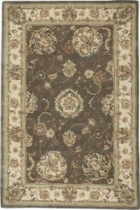 Capel Rugs Creative Concepts Cane Wicker - Canvas Charcoal (355) Octagon 8' x 8' Area Rug