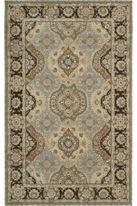 Capel Rugs Creative Concepts Cane Wicker - Canvas Spa Blue (427) Octagon 8' x 8' Area Rug