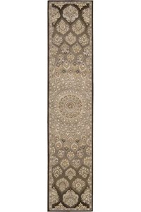 Capel Rugs Creative Concepts Cane Wicker - Sidewalk Lacquer-Ebony (920) Octagon 8' x 8' Area Rug