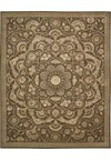Capel Rugs Creative Concepts Cane Wicker - Coral Cascade Avocado (225) Rectangle 4' x 6' Area Rug