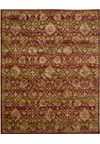 Capel Rugs Creative Concepts Cane Wicker - Coral Cascade Avocado (225) Rectangle 5' x 8' Area Rug