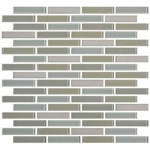 "Daltile Mosaic Traditions: Oasis 5/8"" x 3"" Glass Brick-joint Mosaic Tile BP98-583BJMS1P"