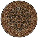 "Surya Ancient Treasures Ink (A-103) Round 8'0"" x 8'0"""