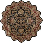 "Surya Ancient Treasures Jet Black (A-108) Star 8'0"" x 8'0"""