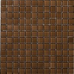 "Emser Lucente Solids Glass Mosaic 12.5"" x 12.5"" : Mulberry"