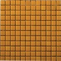 "Emser Lucente Solids Glass Mosaic 12.5"" x 12.5"" : Empire Gold"