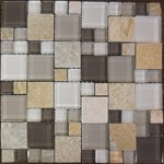 "Glass Tile & Stone Magnificent Modular Series Mosaic 12"" x 12"" : AL1304"