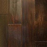 "Indusparquet Engineered Hand-Scraped: Brazilian Angelim Black-High Sheen 1/2"" x 5"" Engineered Hardwood IPPFHSENGSA5"