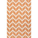 "Surya Jill Rosenwald Fallon Papaya (FAL-1081) Rectangle 5'0"" x 8'0"""