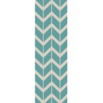 "Surya Jill Rosenwald Fallon Malachite Blue (FAL-1094) Rectangle 2'6"" x 8'0"""