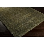 "Surya Luxury Shag Moss (LXY-1728) Rectangle 1'10"" x 2'11"""