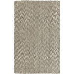 "Surya Reeds Elephant Gray (REED-800) Rectangle 5'0"" x 8'0"""